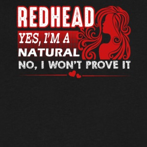 Natural Redheads Shirt - Men's V-Neck T-Shirt by Canvas