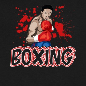 boxing tee shirt - Men's V-Neck T-Shirt by Canvas