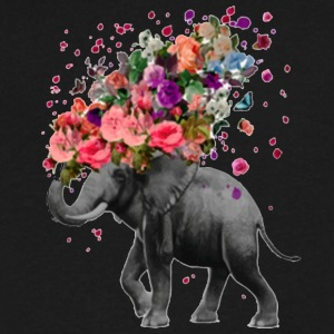 Elephant Splash - Men's V-Neck T-Shirt by Canvas