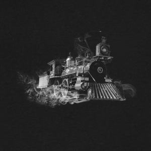 steam train outline - Men's V-Neck T-Shirt by Canvas