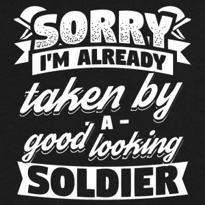 Funny Soldier Army Shirt Already Taken - Men's V-Neck T-Shirt by Canvas
