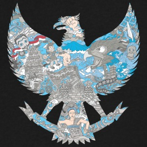 Indonesia Garuda - Men's V-Neck T-Shirt by Canvas
