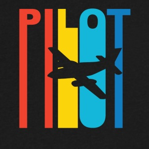 Vintage Pilot Graphic - Men's V-Neck T-Shirt by Canvas