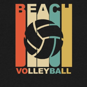 Vintage Beach Volleyball Graphic - Men's V-Neck T-Shirt by Canvas