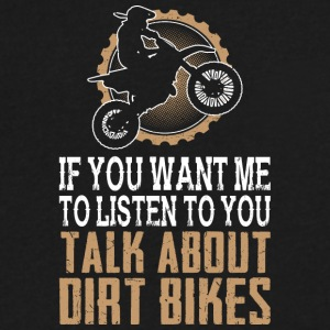I Love Dirt Bikes - Men's V-Neck T-Shirt by Canvas