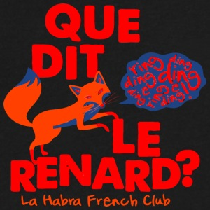 Que Dit Le Renard La Habra French Club - Men's V-Neck T-Shirt by Canvas