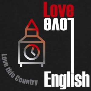 Love English, love England - Men's V-Neck T-Shirt by Canvas