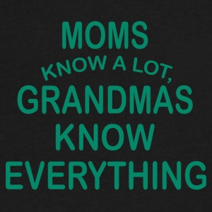 grandmas know everything - Men's V-Neck T-Shirt by Canvas