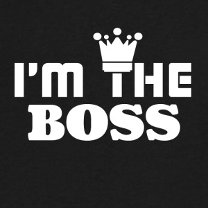 I'm the BOSS - Men's V-Neck T-Shirt by Canvas