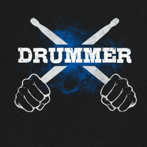 Drummer Drum Sticks Funny Love Percussion Rock - Men's V-Neck T-Shirt by Canvas