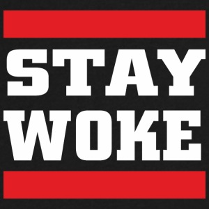STAY WOKE - Men's V-Neck T-Shirt by Canvas
