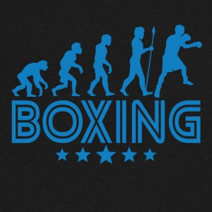 Retro Boxing Evolution - Men's V-Neck T-Shirt by Canvas