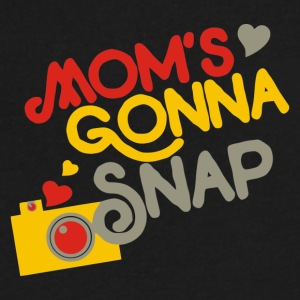 Mom s Gonna snap - Men's V-Neck T-Shirt by Canvas