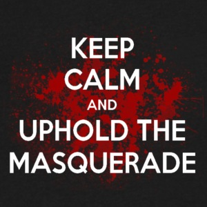 Uphold the Masquerade - Men's V-Neck T-Shirt by Canvas