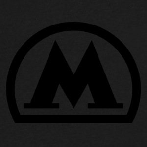 moscow metro logo black - Men's V-Neck T-Shirt by Canvas