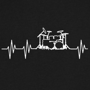 DRUMS HEARTBEAT SHIRTS - Men's V-Neck T-Shirt by Canvas