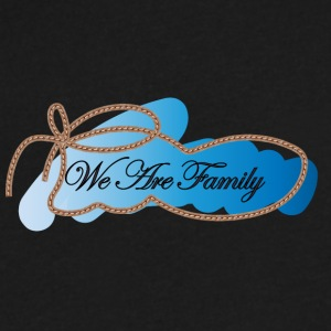 We are family - Men's V-Neck T-Shirt by Canvas
