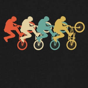 Retro BMX Pop Art - Men's V-Neck T-Shirt by Canvas