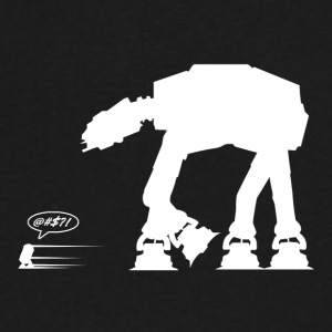 R2D2 vs AT-AT - Men's V-Neck T-Shirt by Canvas