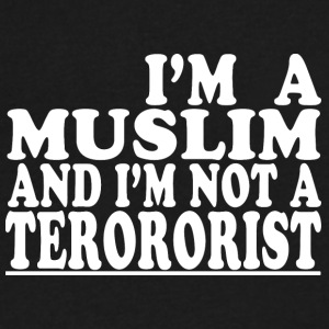 I m a muslim and i m not a terrorist - Men's V-Neck T-Shirt by Canvas