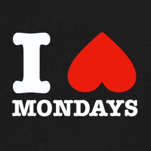 I heart mondays - Men's V-Neck T-Shirt by Canvas