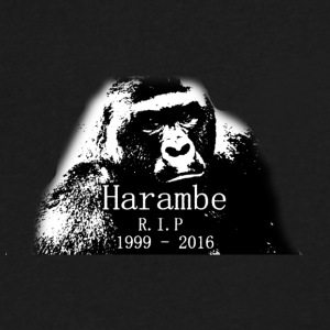 Harambe - Men's V-Neck T-Shirt by Canvas