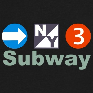 New York Subway - Men's V-Neck T-Shirt by Canvas