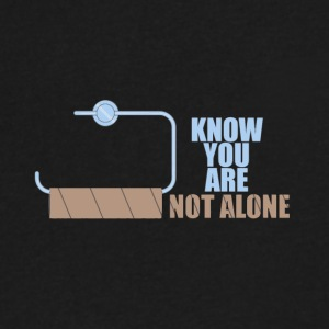 You are not alone toilet humor - Men's V-Neck T-Shirt by Canvas