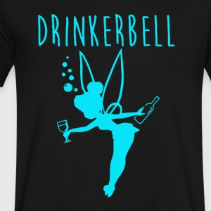 Drinker bell - Men's V-Neck T-Shirt by Canvas