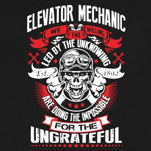 WE THE WILLING - ELEVATOR MECHANIC SHIRT - Men's V-Neck T-Shirt by Canvas