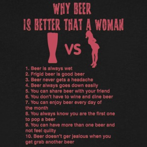 Beer versus woman - Men's V-Neck T-Shirt by Canvas
