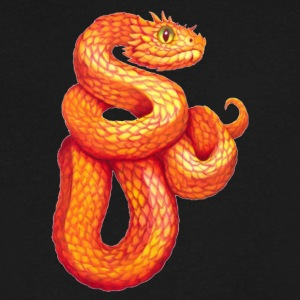 Imperial Snake - Men's V-Neck T-Shirt by Canvas