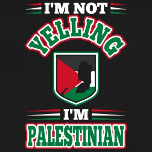 Im Not Yelling Im Palestinian - Men's V-Neck T-Shirt by Canvas