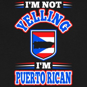 Im Not Yelling Im Puerto Rican - Men's V-Neck T-Shirt by Canvas