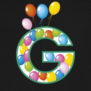 letter G ballons - Men's V-Neck T-Shirt by Canvas