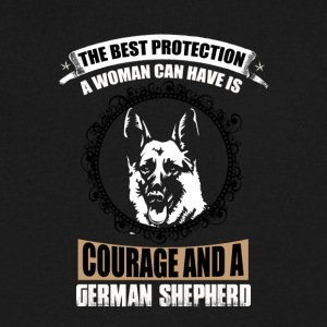 German Shepard - Men's V-Neck T-Shirt by Canvas