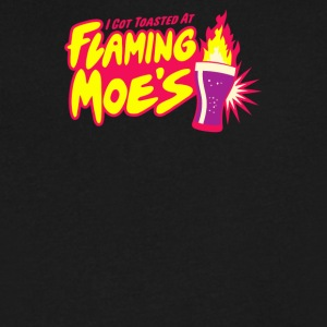 Flaming Moe s - Men's V-Neck T-Shirt by Canvas