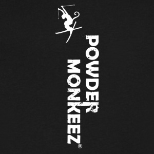 Powder Monkeez - Men's V-Neck T-Shirt by Canvas