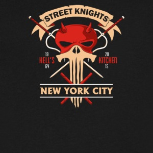 STREET KNIGHTS - Men's V-Neck T-Shirt by Canvas