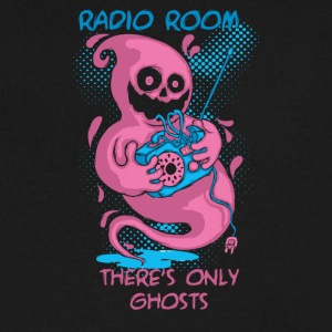 ghost and radio - Men's V-Neck T-Shirt by Canvas