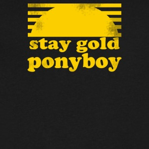Stay Gold Ponyboy The Outsiders Movie Book - Men's V-Neck T-Shirt by Canvas