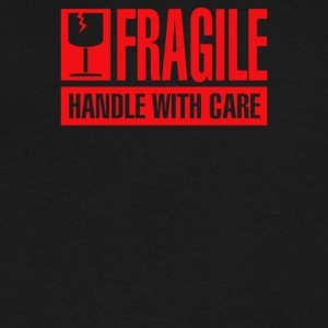Fragile Handle with Care - Men's V-Neck T-Shirt by Canvas