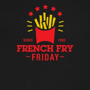 French Fry Friday - Men's V-Neck T-Shirt by Canvas