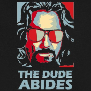 The Dude Abides Man - Men's V-Neck T-Shirt by Canvas