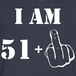 52nd Birthday T Shirt 51 + 1 Made in 1965 - Men's V-Neck T-Shirt by Canvas