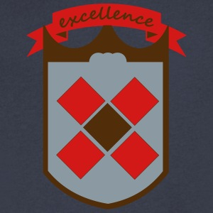 shield excellence - Men's V-Neck T-Shirt by Canvas