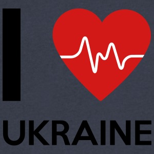 I Love Ukraine - Men's V-Neck T-Shirt by Canvas