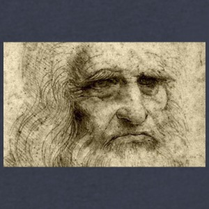 leonardo da vinci - Men's V-Neck T-Shirt by Canvas