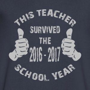 This Teacher Survived The 2016-2017 School Year - Men's V-Neck T-Shirt by Canvas
