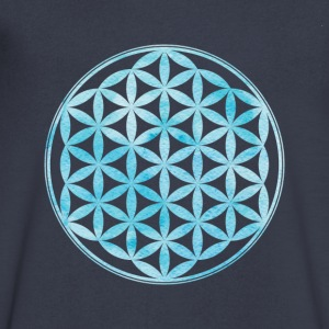 Flower of Life - Sacred Geometry - Men's V-Neck T-Shirt by Canvas